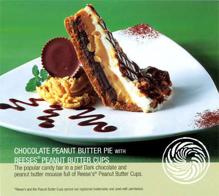 Chocolate peanut butter pie served for dessert at the Winchester Cafe