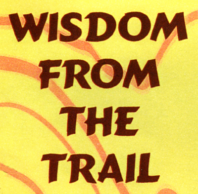 """Wisdom from the Trail,"" a page of quotations on the Winchester Cafe menu."
